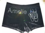 Personalised shorts with a pair of ballet shoes